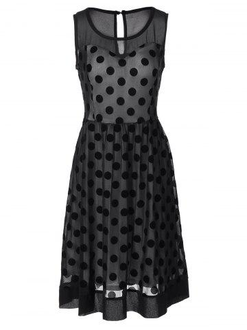 Vintage Polka Dot Sheer Skater Dress