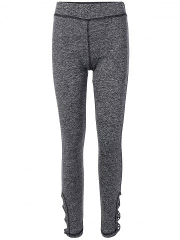 New Stretchy Side Cross Cut Out Leggings