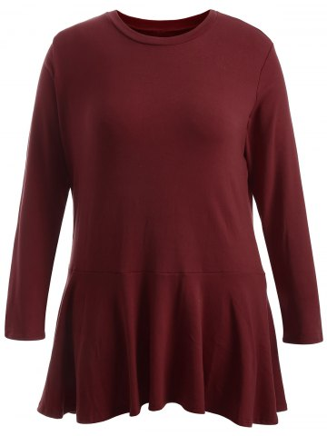 Best Plus Size Long Sleeve Flounce Dress