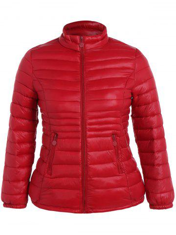 Fashion Plus Size Double Pocket Quilted Jacket