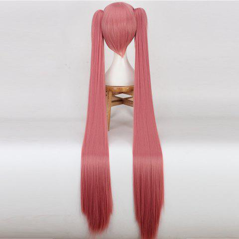 Shops Long Full Bang Straight with Bunches Miku Cosplay Synthetic Wig - WATERMELON  Mobile