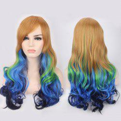 Colored Long Side Bang Wavy Cosplay Lolita Synthetic Wig
