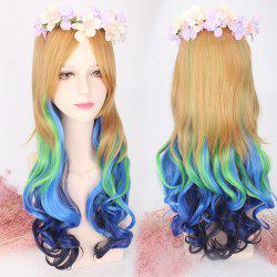Long Side Bang Wavy Colored Cosplay Lolita Synthetic Wig