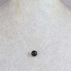 Concise Invisible Chain Bead Necklace -