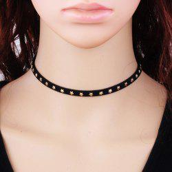 Star Velvet Choker Necklace - BLACK