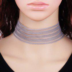 Lace Wide Band Choker Necklace -