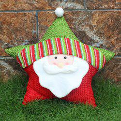 Christmas Party Decoration Santa Claus Star Pillow - WHITE
