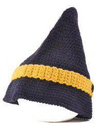 Outdoor Button Pointed Top Knitted Beanie -