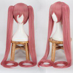 Long Full Bang Straight with Bunches Miku Cosplay Synthetic Wig
