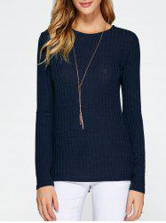 Lace Up Side Slit Sweater