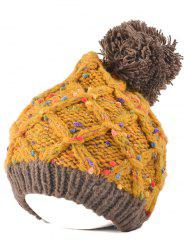 Outdoor Latticed Knit Ball Top Beanie