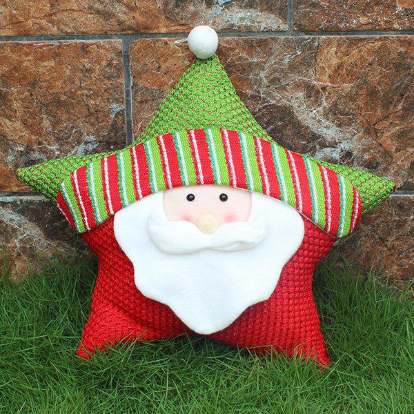 Christmas Party Decoration Santa Claus Star PillowHOME<br><br>Color: WHITE; Event &amp; Party Item Type: Party Decoration; Occasion: Christmas,Party; Size(L*W)(CM): 40*32; Weight: 0.400kg; Package Contents: 1 x Christmas Pillow;