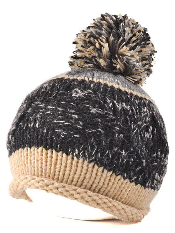 Affordable Multi Color Knit Ball Rolled Edge Beanie 44a9e34c353f