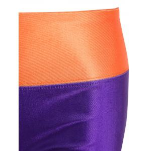 Color Block Stretchy Sports Pants -