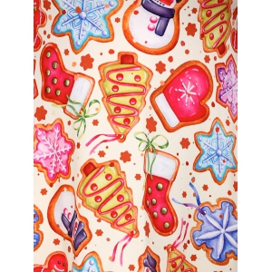 Cookie Print Swing Dress - COLORMIX 4XL