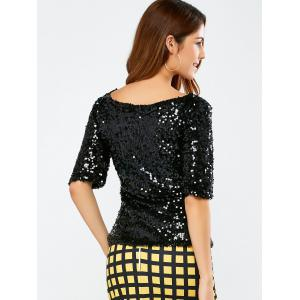 Sequined Short Sleeve Sparkly T-Shirt -