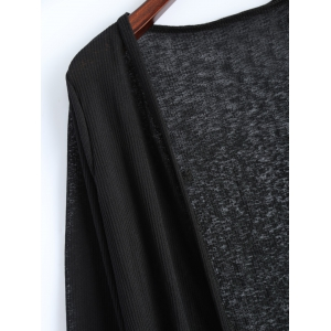 Open Front Long Duster Cardigan -