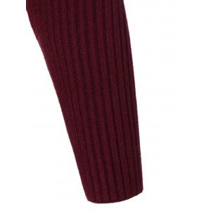 Crew Neck Knit Ribbed Sweater -
