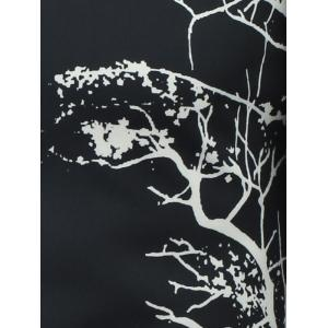 Abstract Tree Printed Long Sleeve Button Shirt -