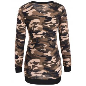 Camouflage Pattern Sweatshirt - BLACK XL