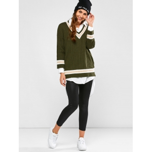 Batwing Ribbed Cricket Sweater -