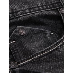 Slim Fit Zip Fly Low Waisted Jeans -