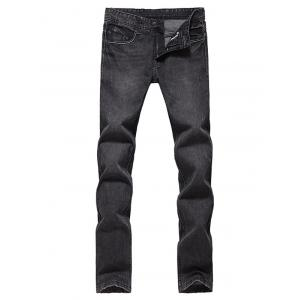 Slim Fit Zip Fly Low Waisted Jeans