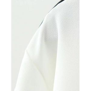 Plus Size Piped Tie Neck Pocket Shirt -