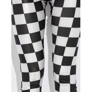 Checked Stretchy Pencil Leggings -