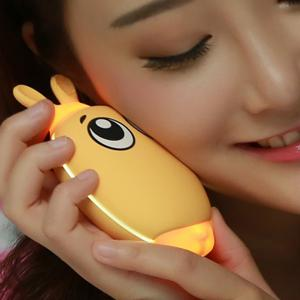 Mini 3600mAh Hand Warmer USB Mobile Power - YELLOW