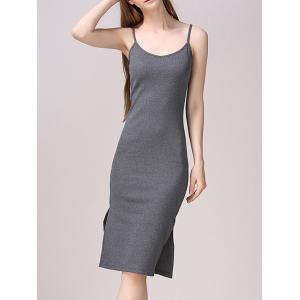 Side Slit Bodycon Tank Dress -