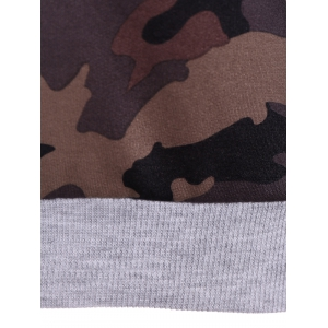 Pullover Camo Print Hoodie - CAMOUFLAGE COLOR 2XL