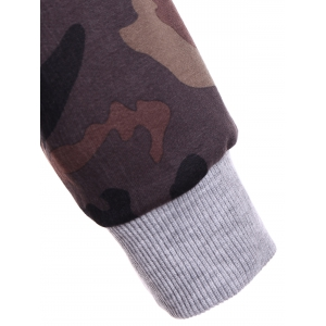 Pullover Camo Print Hoodie -