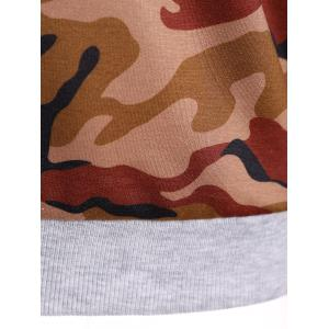Camouflage Print Drawstring Hoodie - CAMOUFLAGE COLOR 2XL