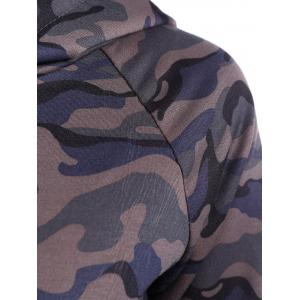 Drwastring Camouflage Print Panel Hoodie - CAMOUFLAGE COLOR 2XL