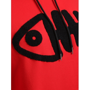 Plus Size Fishbone Graphic Drawstring Hoodie -