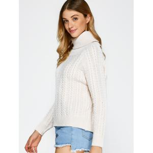 Turtleneck Open Back Sweater - OFF-WHITE ONE SIZE