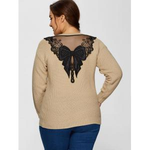 Plus Size Embellished Sweater -