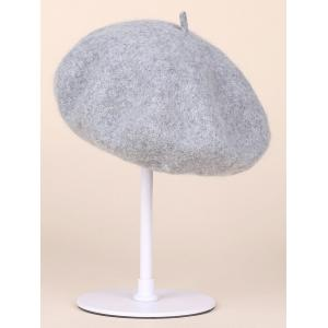 Soft Felt Wool Beanie Beret Hat - GRAY
