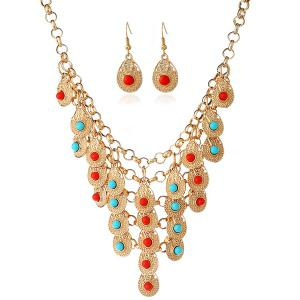 Bohemian Beads Necklace and Earrings