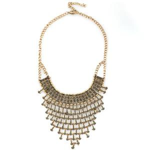 Alloy Geometric Water Drop Necklace