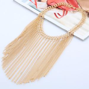 Geometric Tassel Chains Necklace - GOLDEN