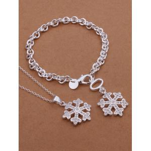 Christmas Snowflake Necklace and Bracelet