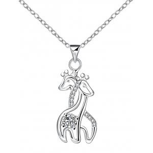 Rhinestone Double Fawn Necklace