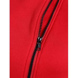 Hooded Inclined Zip Jacket -