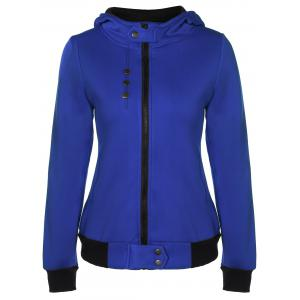 Hooded Zip Contrast Jacket