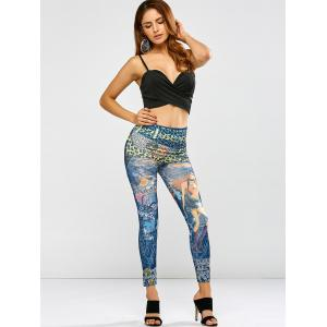 High Waist Stretchy Printed Leggings -