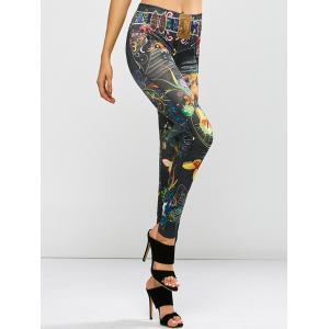 Stretchy Butterfly Print Leggings