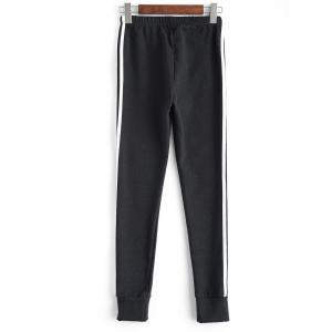 Plus Size Stretchy Striped Jogger Pants -