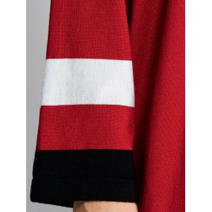 Asymmetrical Striped Side Slit Shirt Sweater Dress -
